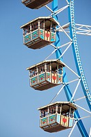 Detail of Ferris wheel at Oktoberfest beer festival, in Munich Germany
