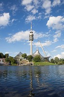 Olympic stadium and tower Munich, Bavaria, Germany (thumbnail)