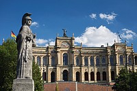 Statue in front of Maximilianeum in Munich, Bavaria, Germany