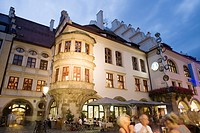 Restaurant at night in, Munich, Bavaria, Germany