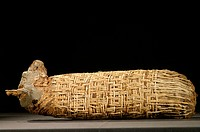 Mummified dog from Ancient Egypt. Animals were mummified in Ancient Egypt for thousands of years, either to allow a favoured pet to follow its owner i...