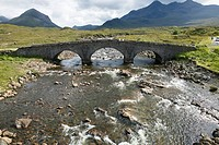 Stone bridge Sligachan, Isle of Skye, Highlands, Scotland, UK