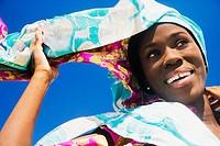 African woman wearing headscarf