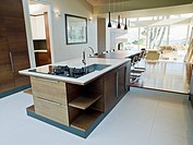 Kitchen and dining room of modern home