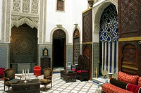 Morocco, Fez, the Medina, Riad Blue House
