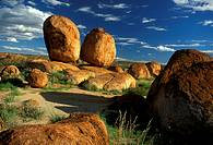 Rounded granite boulders, Devil's Marbles Conservation Reserve, Northern Territory, Australia