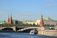 Kremlin, view from Moskva river, Moscow, Russia