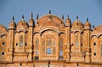 India, Rajasthan State, Jaipur, the Wind Palace or Hawa Mahal