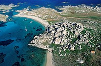 France, Corse du Sud, Lavezzi Islands nature reserve aerial view