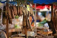 France, Corse du Sud, Ajaccio, square Cesar Campinchi, market of Corsican products