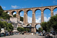 France, Finistere, Morlaix, viaduct
