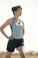 A woman exercising on a bright sunny day (thumbnail)