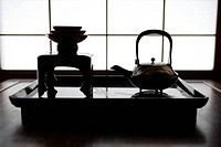 View of tea set on a table (thumbnail)