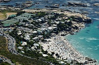 Aerial view of Camps Bay, Cape Town, Western Cape Province, South Africa