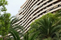 Flat building in the Mediterranean coast of Spain