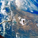 Hubble Space Telescope Against Bolivian &amp; Peruvian Topography