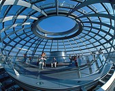 Berlin, Reichstag, dome by Norman Forster, interieur