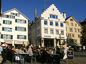Switzerland, Zurich, street cafe, people
