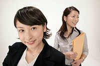 Businesswomen smiling, portrait