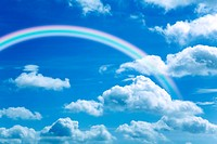 Rainbow in sky