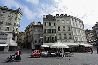 Place de la Palud, Old Town, Lausanne, Canton of Vaud, Switzerland
