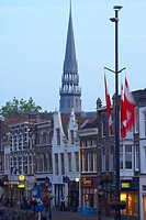 Buildings at the Old Town in the evening, Gouda, Netherlands, Europe