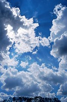 Clouds on a blue sky.
