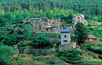 France _ Le Maynial, village in the Gorges de la Jonte, Aveyron