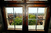 View from castle, Nuremberg, Middle Franconia, Bavaria, Germany