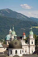 Cathedral and Kollegienkirche domes, Salzburg, Austria