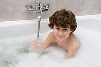 Child in the bath