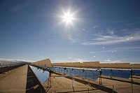 Solar panels for electricity generation, Mojave Desert, California, USA.