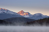 Sunrise over Patricia Lake and Muhigan Mountain
