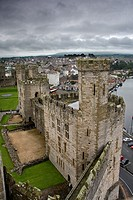 Castillo de Caernarfon en Gales, Reino Unido
