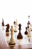 Chessboard and chessmen.