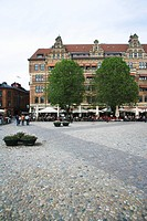 Lilla torg a square in the centre of Malmo Sweden.
