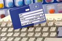 European health Insurance Card and computer treatment.
