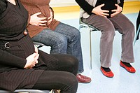 Photo essay at the maternity of Saint_Vincent de Paul hospital, Lille, France. Antenatal class.