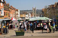 Market at Market Place. Henley-on Thames. Oxfordshire. England. UK.