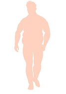OBESE MAN, ILLUSTRATION