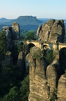Basteibridge, Elbsandstonemountains, nationel park Saxon Switzerland, Saxony, Germany