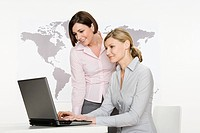 Businesswomen with laptop