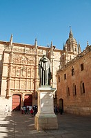 Facade of the University. Salamanca, Castilla Leon, Spain