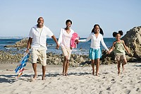 African american family on a beach