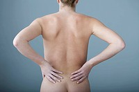 LOWER BACK PAIN IN A WOMAN Model.