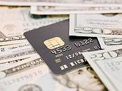 Banknotes and credit card