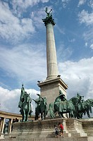 Budapest (Hungary), the monument in the Heroes Square