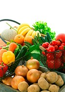 Wide variety of fresh fruit and vegetables