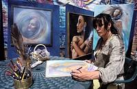 Elisabeth Silks is an aura painter. Sedona, Arizona, USA