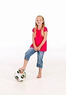 Girl with football